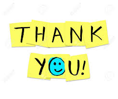 Word Thank You The Words Thank You Written On Yellow Sticky Notes Stock Photo