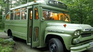 tiny house school bus. Green Bus Tiny Home Conversion House School