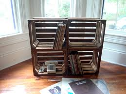wood crate furniture. Wooden Crates Record Holders Home Furniture Pinterest Wood Crate