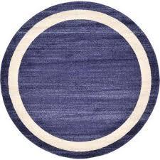 del mar navy blue 6 x 6 round rug navy blue green terracotta violet gray