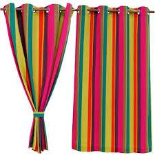 curtain window curtains broad stripes multi color cotton window curtain