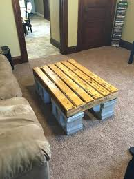 cinderblock furniture. Cinder Block Tables Furniture Pallet And Coffee Table My Projects Within Man Cave Cinderblock
