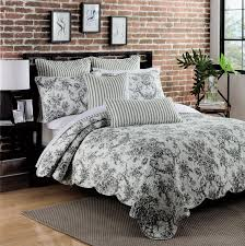 black and white toile bedding and pillow trends black and white for french toile pattern bedroom