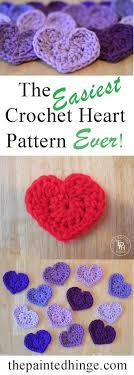 Heart Crochet Pattern Impressive The Easiest Heart Crochet Pattern Ever Crochet Ideas And