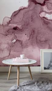 Tapete In Altrosa Und Weiß Im Wasserfarben Look Love Aquarell