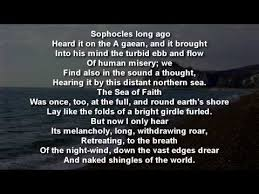matthew arnold the social encyclopedia dover beach by matthew arnold poem reading text