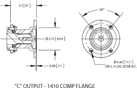 hs24 series power take off c output 1410 comp flange ·