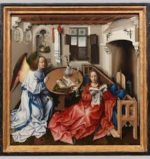painting in oil in the low countries and its sp to southern  annunciation triptych merode altarpiece