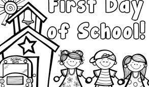 First Day Of School Coloring - Go Digital with US #548d1220363a