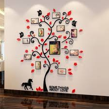 d acrylic family tree wall stickers with photo frame living room green wall art decal home gallery for photographers family tree wall art