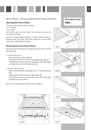 oven door removable inner pane of glass cda sc610 user manual page 33 48
