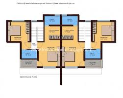Small Picture Modern Twin House Plans Of Sqft 3 Bedroom Home Best 3