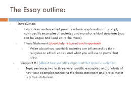 proficiency the prompt analyze how common ethics or moral  the essay outline i introduction i