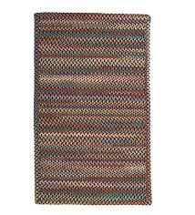 blue ridge rectangle wool braided rug 8 x 11 black multi