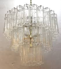 mid century modern murano glass chandelier front