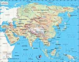 asia map with countries map of asia continent clickable to asian