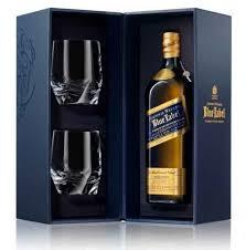 johnnie walker blue gift set