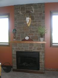 decorations stacked stone fireplace of wall tile