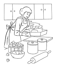 Small Picture Pics Photos Cooking Coloring Pages Kitchen Coloring Book Coloring