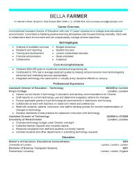 Best Education Assistant Directorme Example Livecareer It Manager