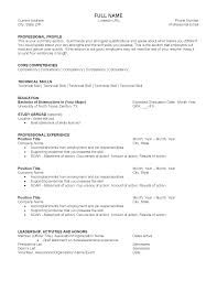 General Resume Outline Resume Samples Division Of Student Affairs