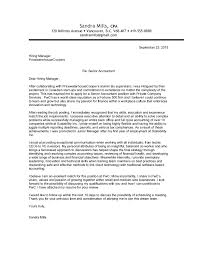 Awesome Collection Of Trend Sample Cover Letter For Accounting