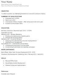 Resume Career Objectives Samples Basic Resume Career Objective