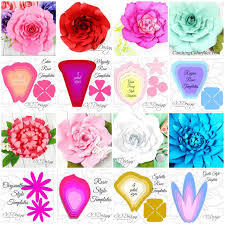 Flowers Templates Giant Flower Template Set Of 16 Flower Templates Plus Leaves And Centers