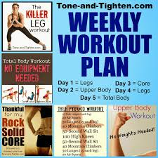 this week s workout plan is dedicated to giving you 5 days of workouts to work you from head to toe each day you get a diffe body