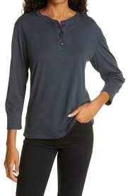 Rails Avery Henley Top In Washed Black | ModeSens