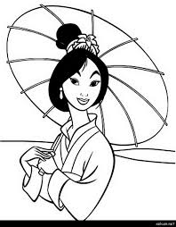 Mulan Coloring Pages Printable Disney Princess 11931528 Attachment