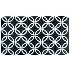 black and white bath rug black white geometric circles bath mat on white background black white