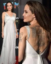 анджелина джоли вышла в свет со своими детьми показав татуировки в