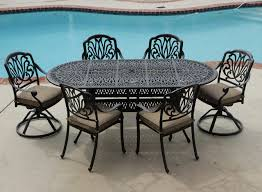 aluminum dining sets patio furniture. rosedown 7 piece cast aluminum patio furniture set contemporary outdoor dining sets t