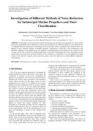 Marine Propeller Design Theory Pdf Investigation Of Different Methods Of Noise Reduction