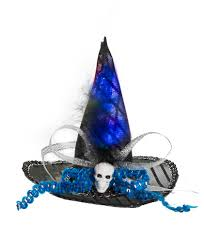 Light Up Witch Hat Blue Black Light Up Mini Witch Hat Costume By Ganz