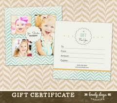 Photography Gift Certificate Template Photography Gift Certificate Template For Professional Etsy