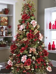Small Picture Flower Theme Christmas Trees Decorating Ideas Pictures 23