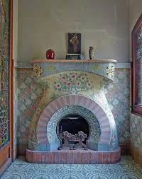 american hippie bohéme boho lifestyle mosaic tile fireplaceart deco