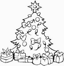 Christmas Tree With Presents Drawing Coloring Page Of Christmas ...