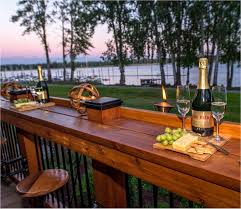 diy deck furniture inspirational railing table all very simple of brilliant