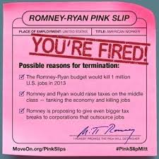 Get Out The Pink Slip Message Today Employment Termination Form ...