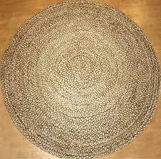 kaza grey jute round rug