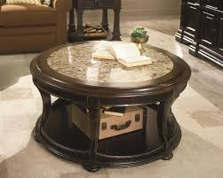antique round marble coffee table with shelf for home furniture ideas