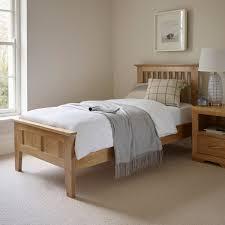 Single Bedroom Furniture Bevel Single Bed In Natural Solid Oak Oak Furniture Land