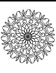 Disegno Di Mandala Con Fiori Semplici Da Colorare Disegni Da