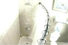 shower curtain rods rod bath ch adjule curved polished chrome black matte