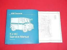 jeep am general fjc fj c service shop repair manual  1984 jeep am general fj8c fj 8c service shop repair manual 84 wiring diagrams