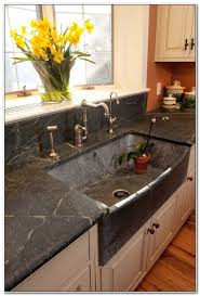 one piece kitchen sink and countertop