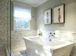 awesome bathroom half tiled half painted ilration tile texture
